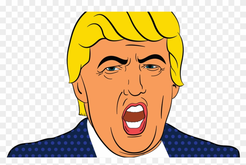 Angry Donald Trump Face Vector Clipart Image Free Stock.