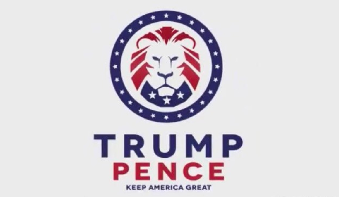 Trump Pence Logo Same as White Supremacy Logo.
