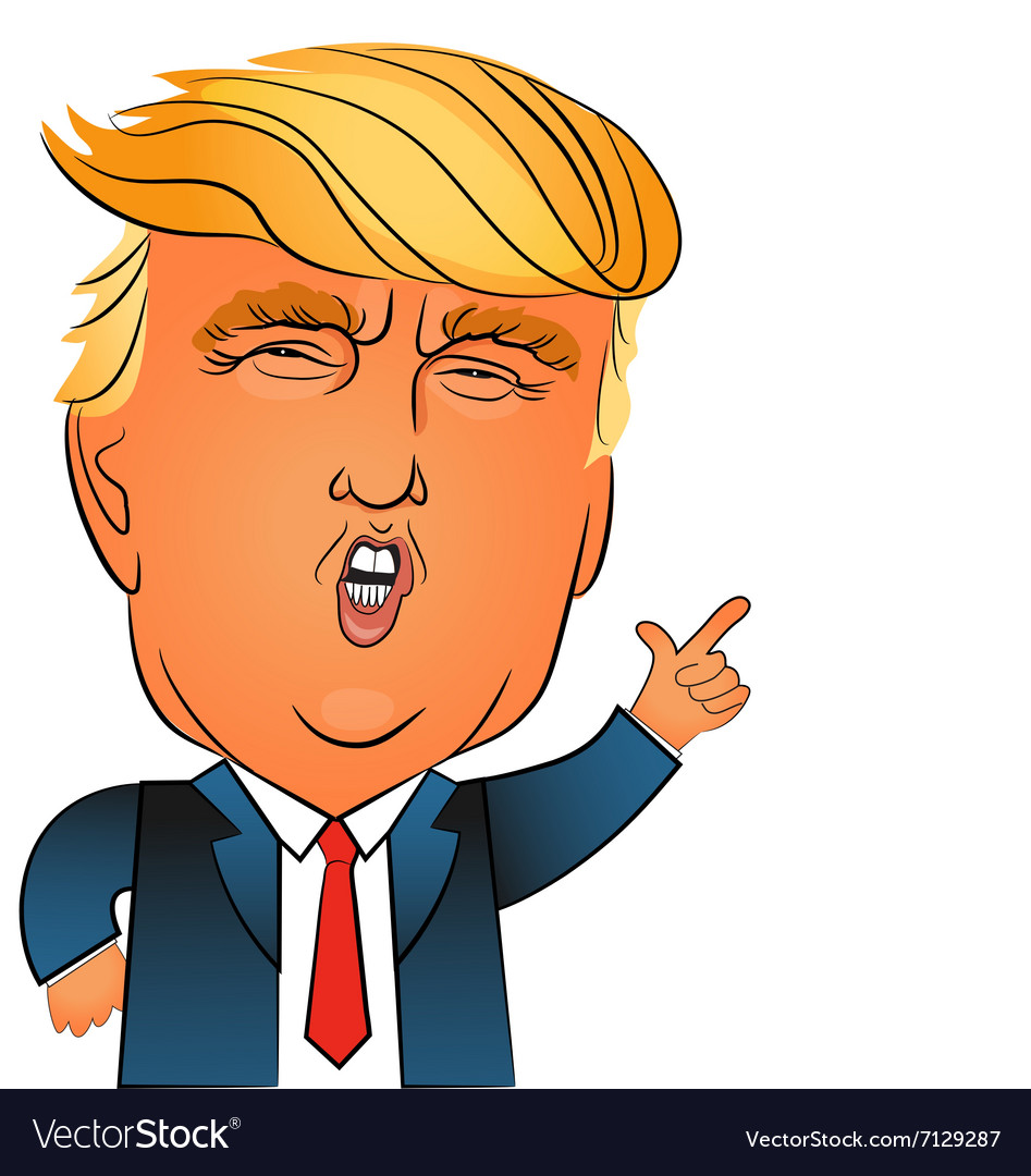 Donald trump character portrait.
