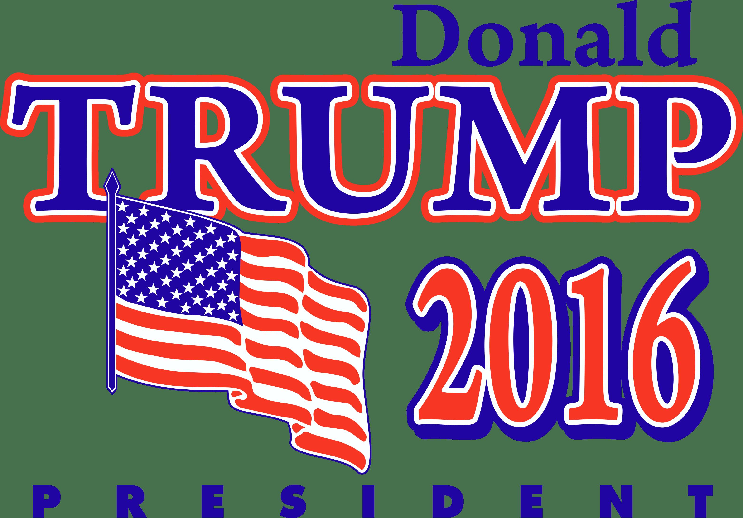Donald Trump President Logo transparent PNG.