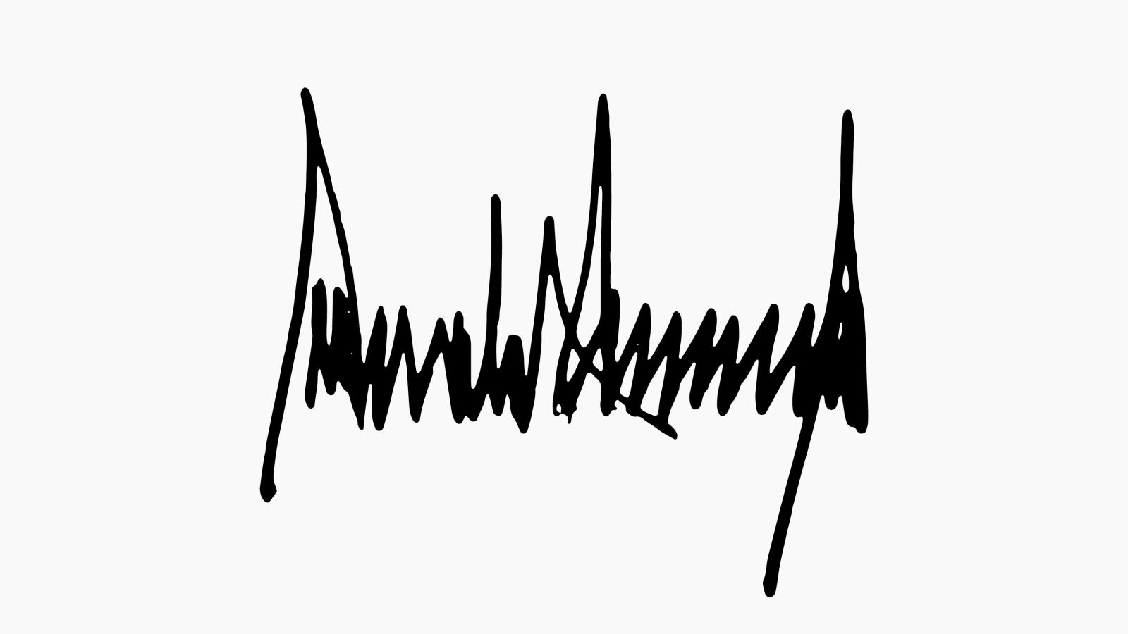 Donald Trump official signature: Trump takes a tediously.