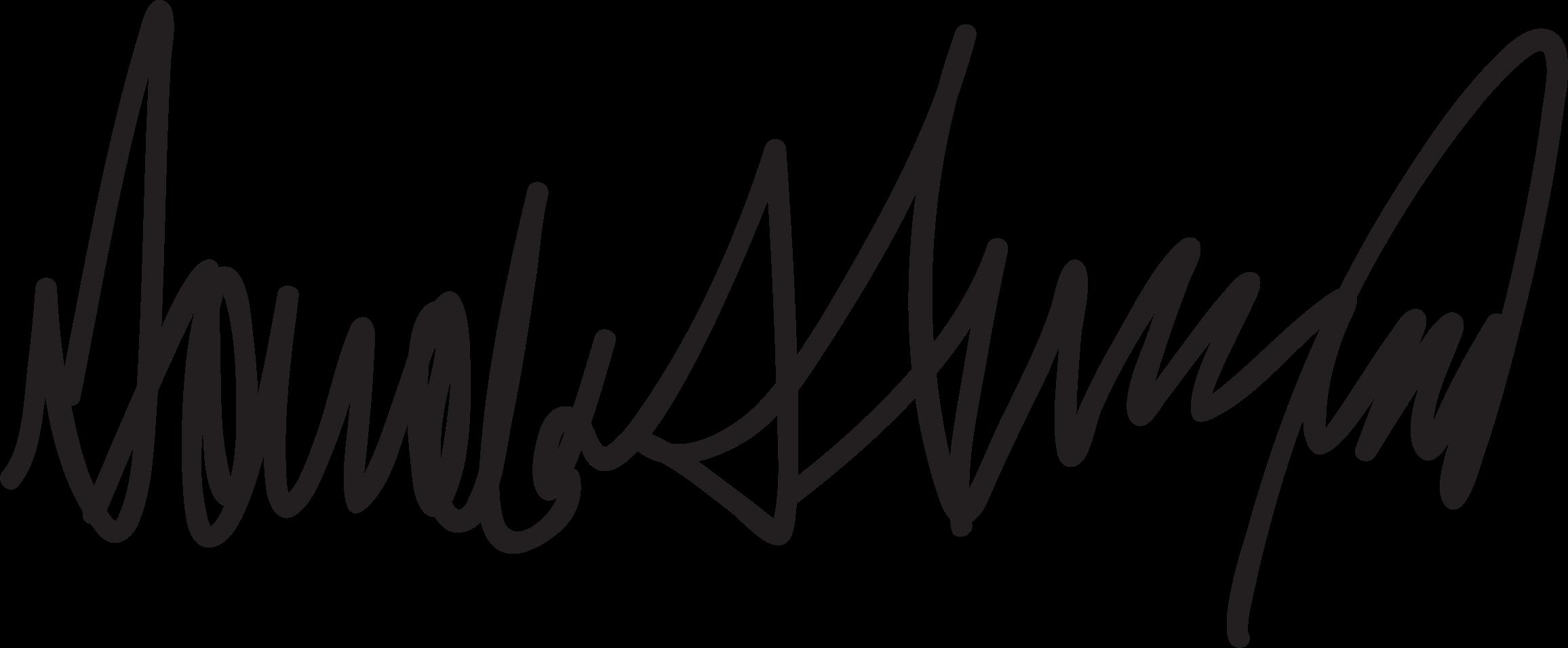 Donald Trump Signature vector clipart image.