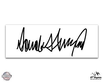 Amazon.com : GT Graphics Donald Trump Signature.