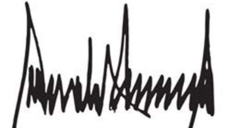 WATCH: Why does Trump have such a weird signature?.
