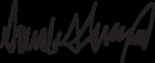 Donald Trump signature.