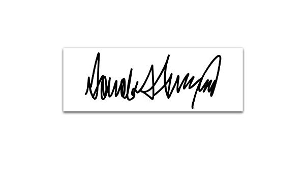 Amazon.com: Magnet Donald Trump Signature.