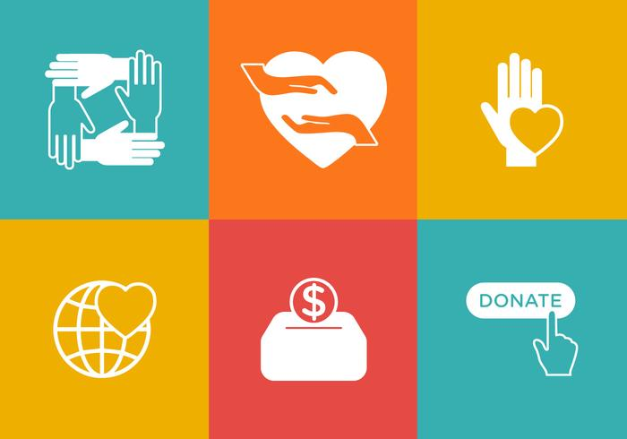 Vector Donation Icon Set.