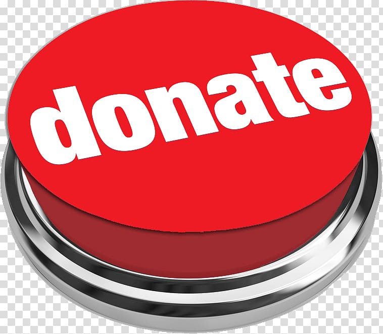 Red Donate button logo, Donate Push Button transparent.