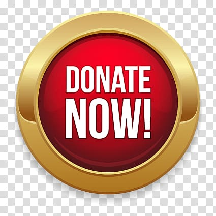 Donate Now signage, Donate Now Gold and Red Button.