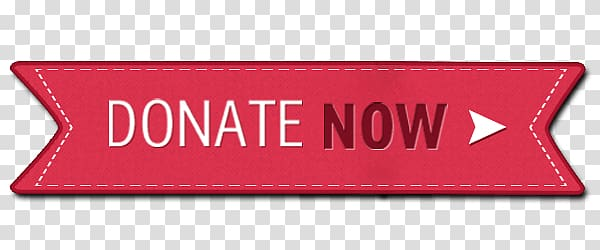 Red and white donate now logo, Donate Now Stitched Button.