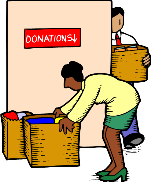 Clothing Donations Clipart.