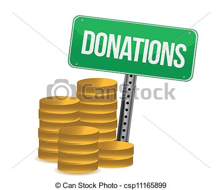 Donation Sign Clipart.
