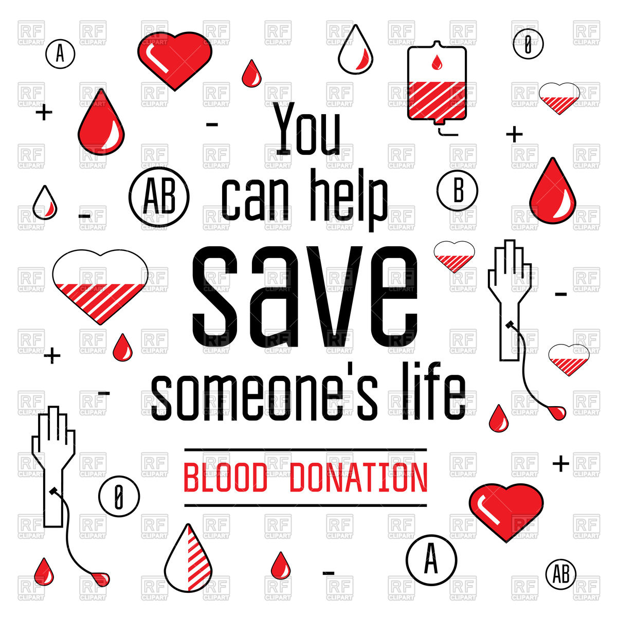 Blood donation icons.