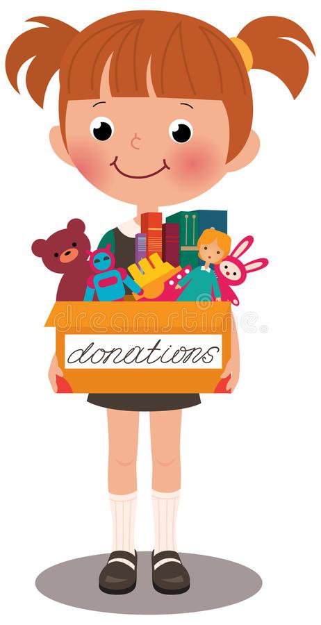 Donations Stock Illustrations.