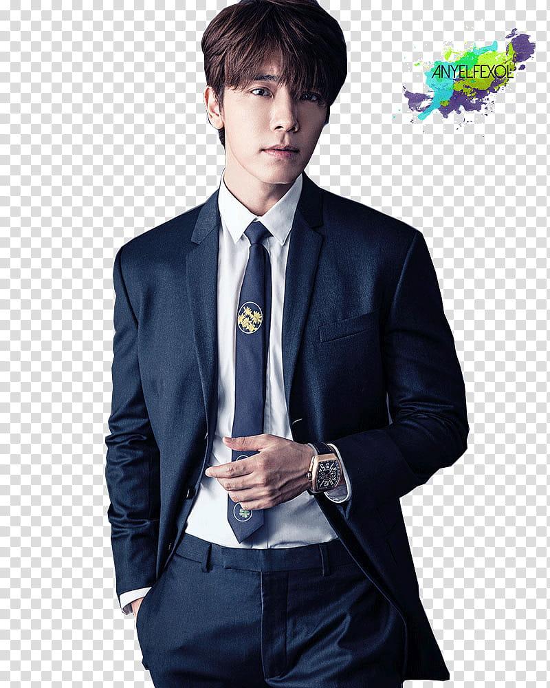 Donghae Super Junior Render transparent background PNG.