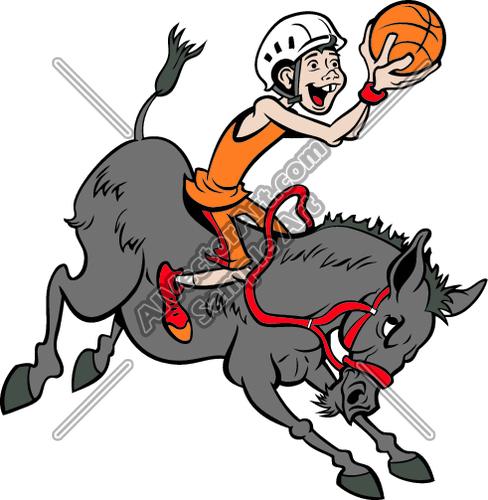 2107 Donkey free clipart.