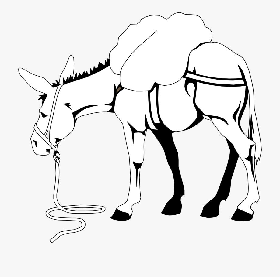 Clip Art Donkey Clipart.