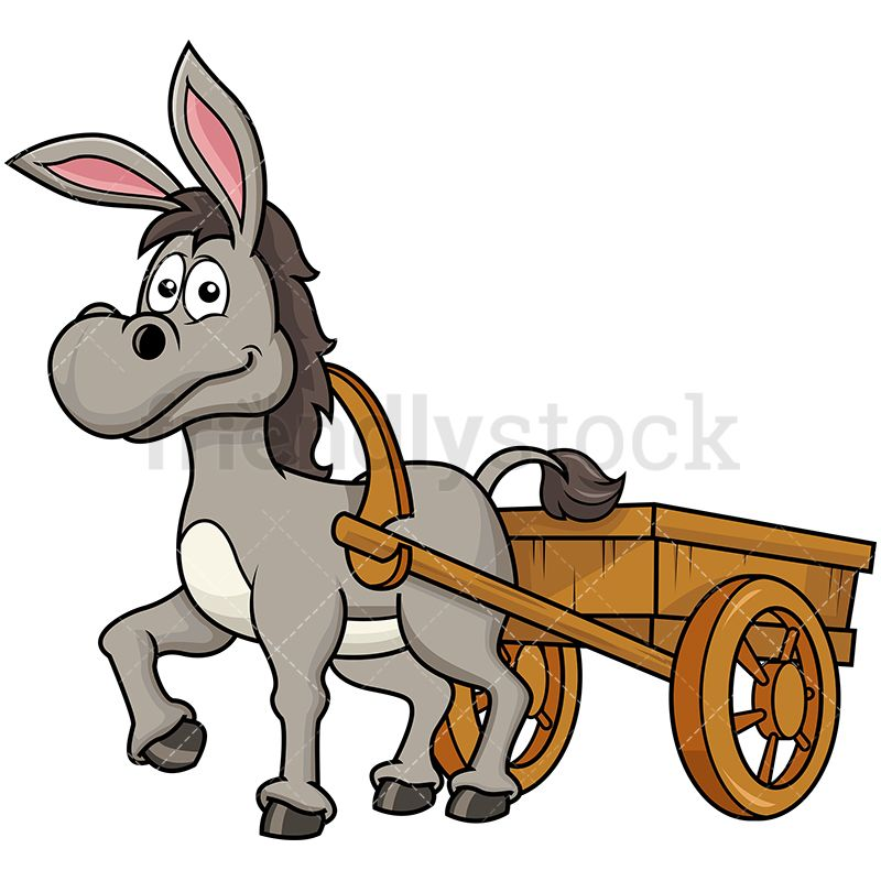 Donkey Pulling Farm Carriage in 2019.