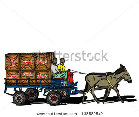 Donkey cart clipart #6