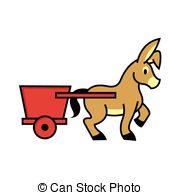 Donkey cart Vector Clip Art EPS Images. 9 Donkey cart clipart.