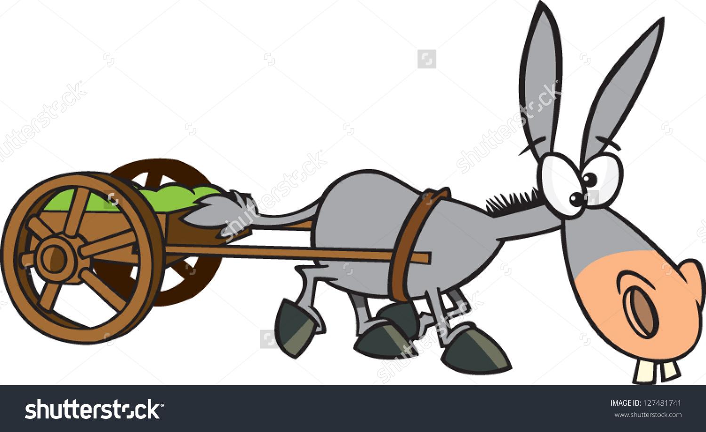 Donkey cart clipart #7