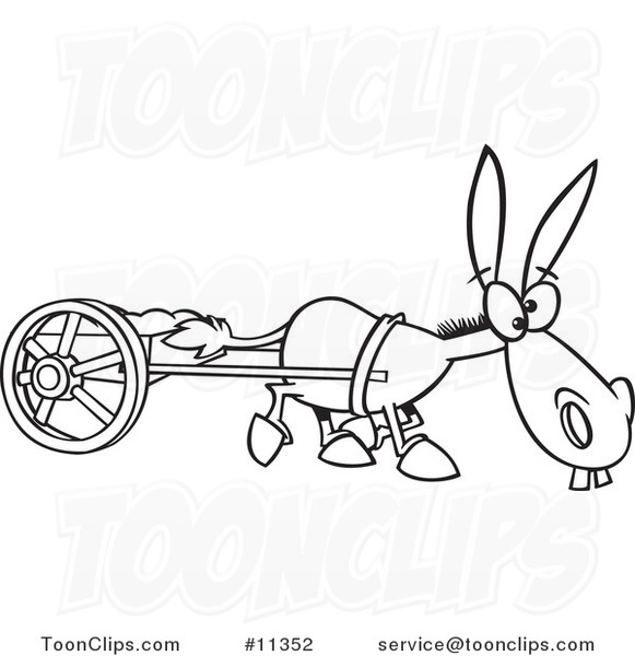 Gallery For > Donkey Pulling Cart Clipart.