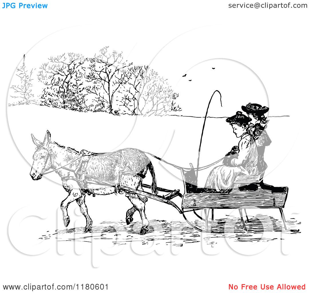 Donkey cart clipart.