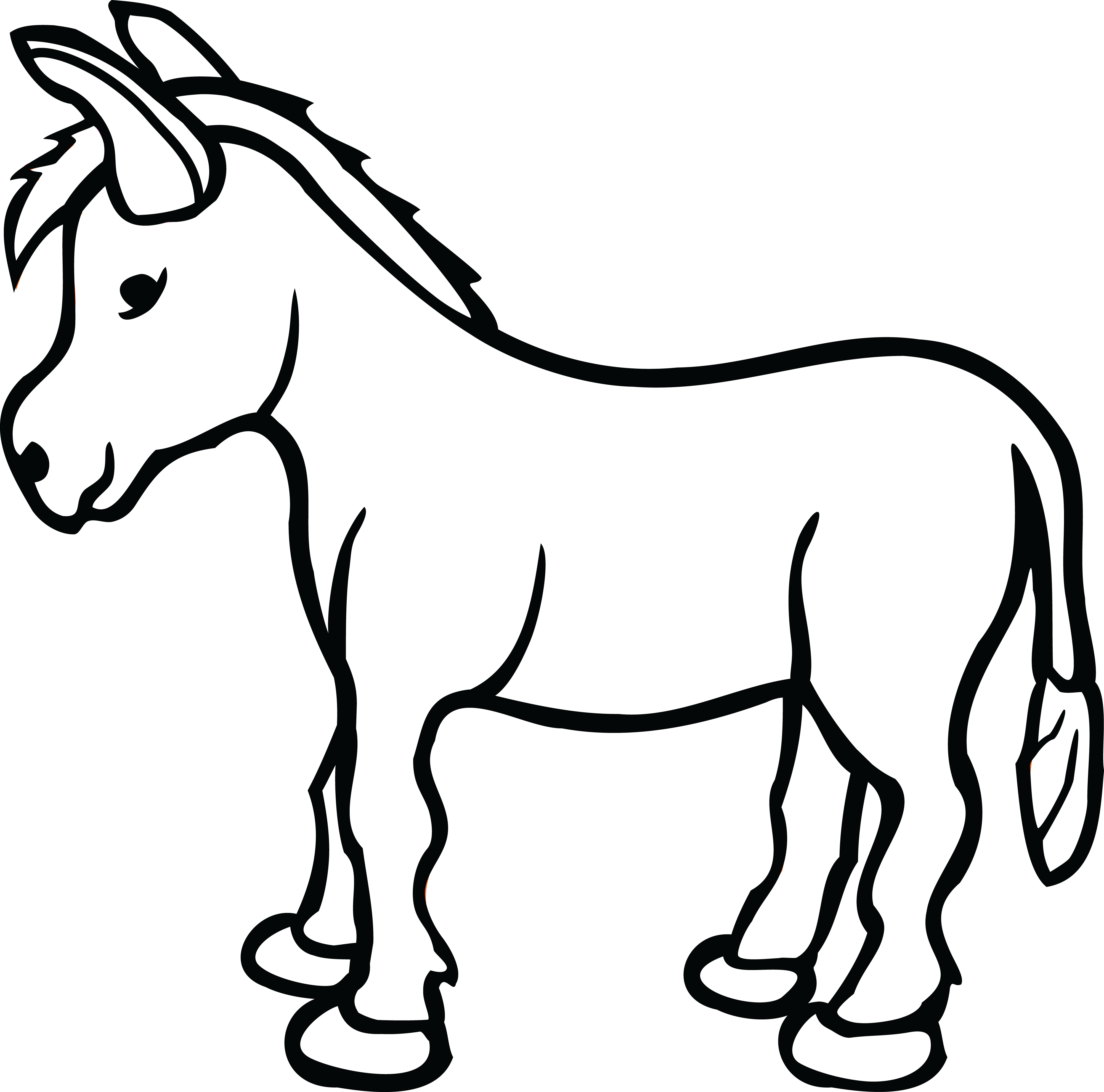 Donkey Clipart for you.