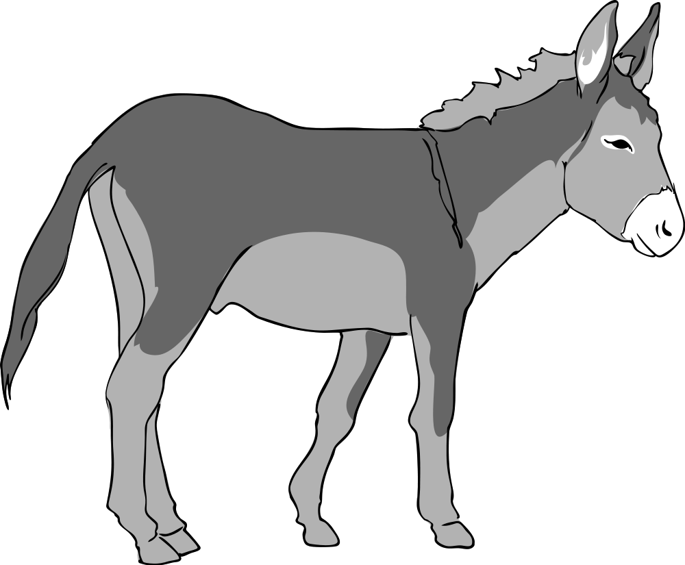 donkey clipart outline clipground