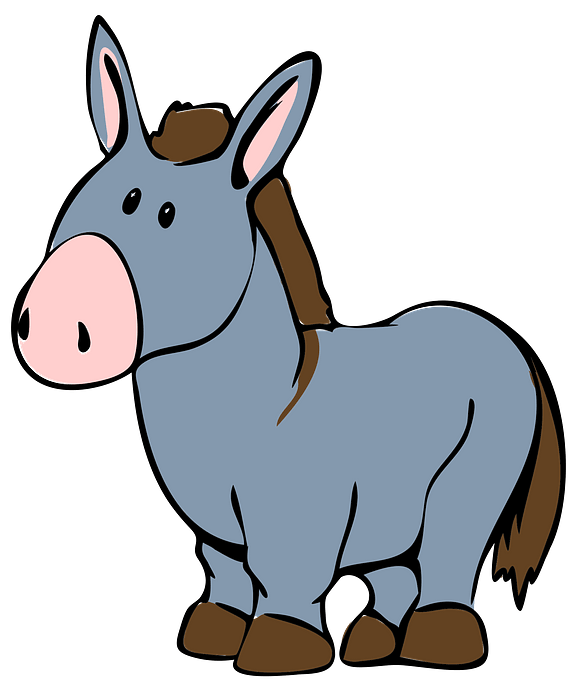 Cartoon Donkey clipart. Free download..
