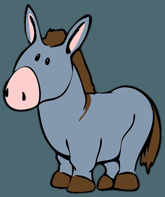 Cartoon Donkey clipart. Free download..