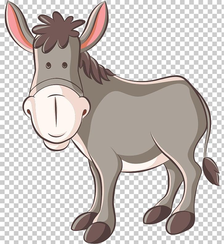 Donkey Mule Horse , donkey PNG clipart.