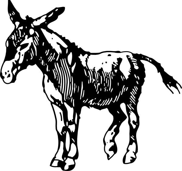 Donkey clip art Free vector in Open office drawing svg ( .svg.