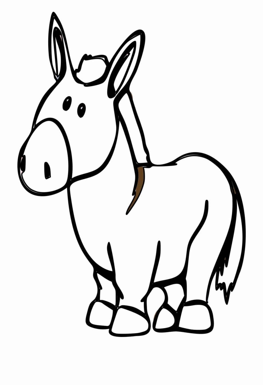 Drawing Donkey Cartoon.