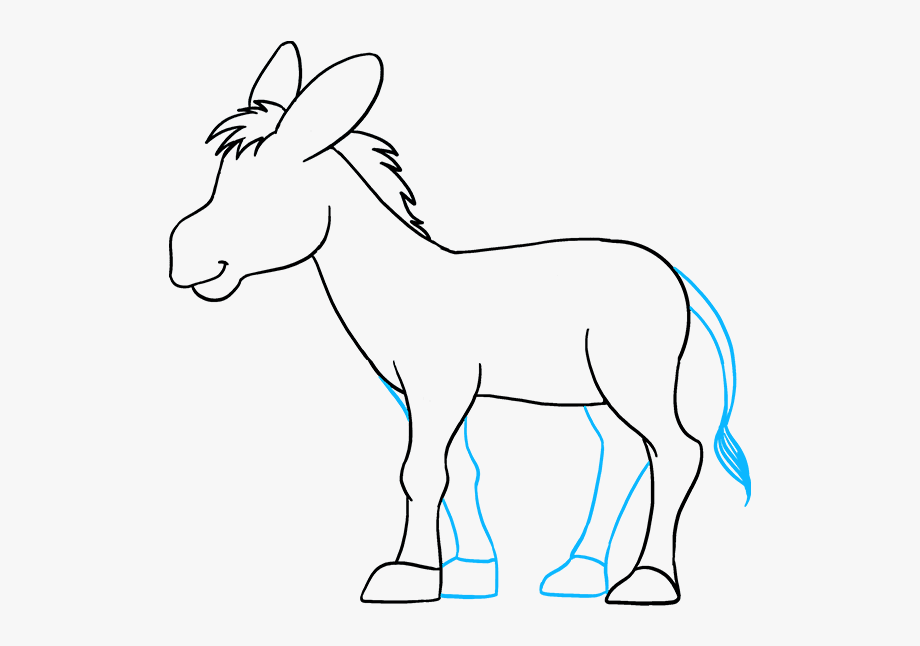 How To Draw Donkey.