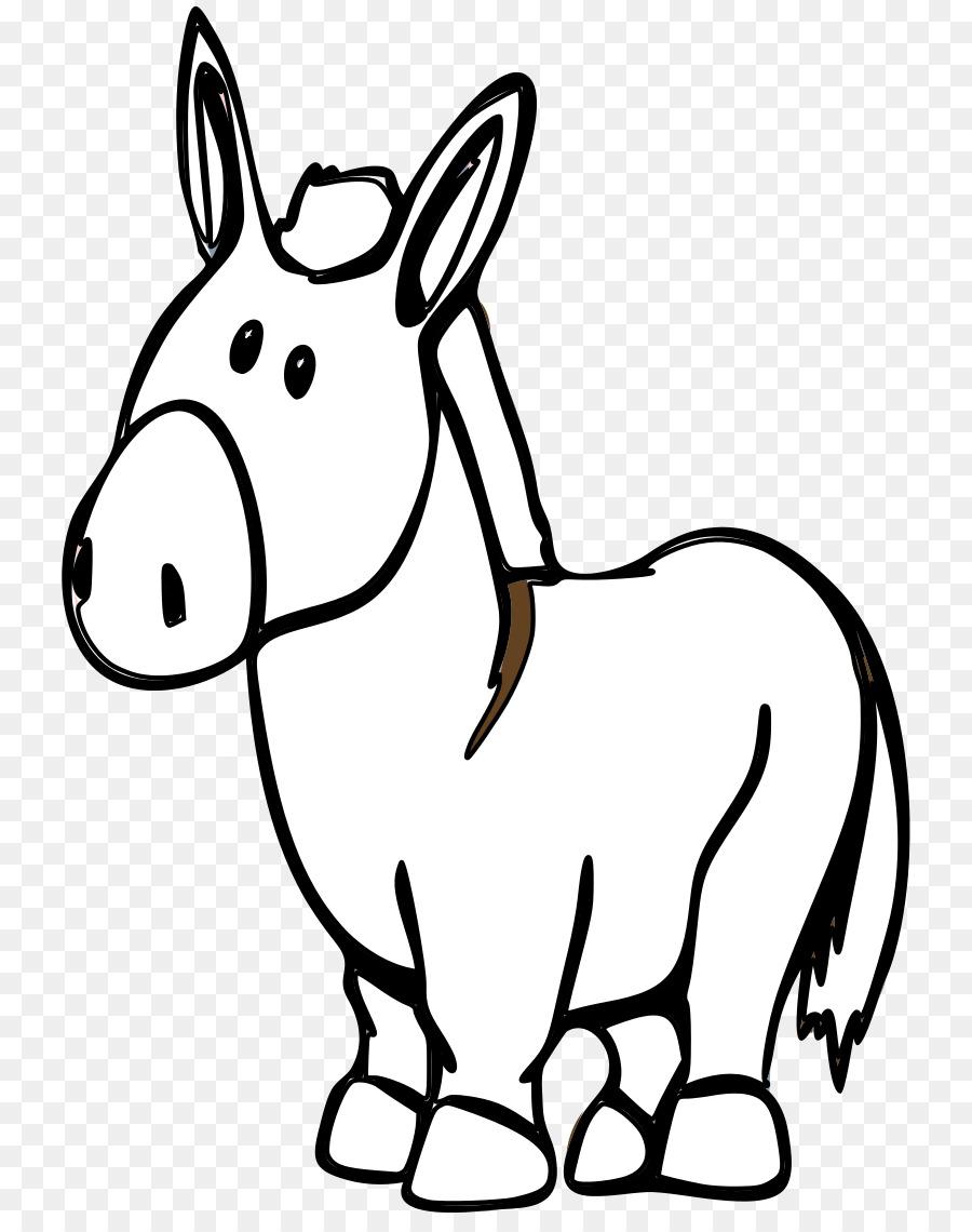 Donkey clipart drawn, Donkey drawn Transparent FREE for.