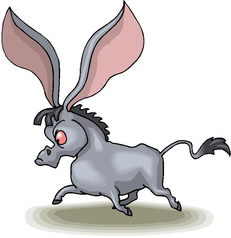 Long Ear Donkey Free Clipart.