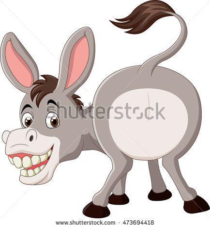 Cartoon funny donkey mascot.