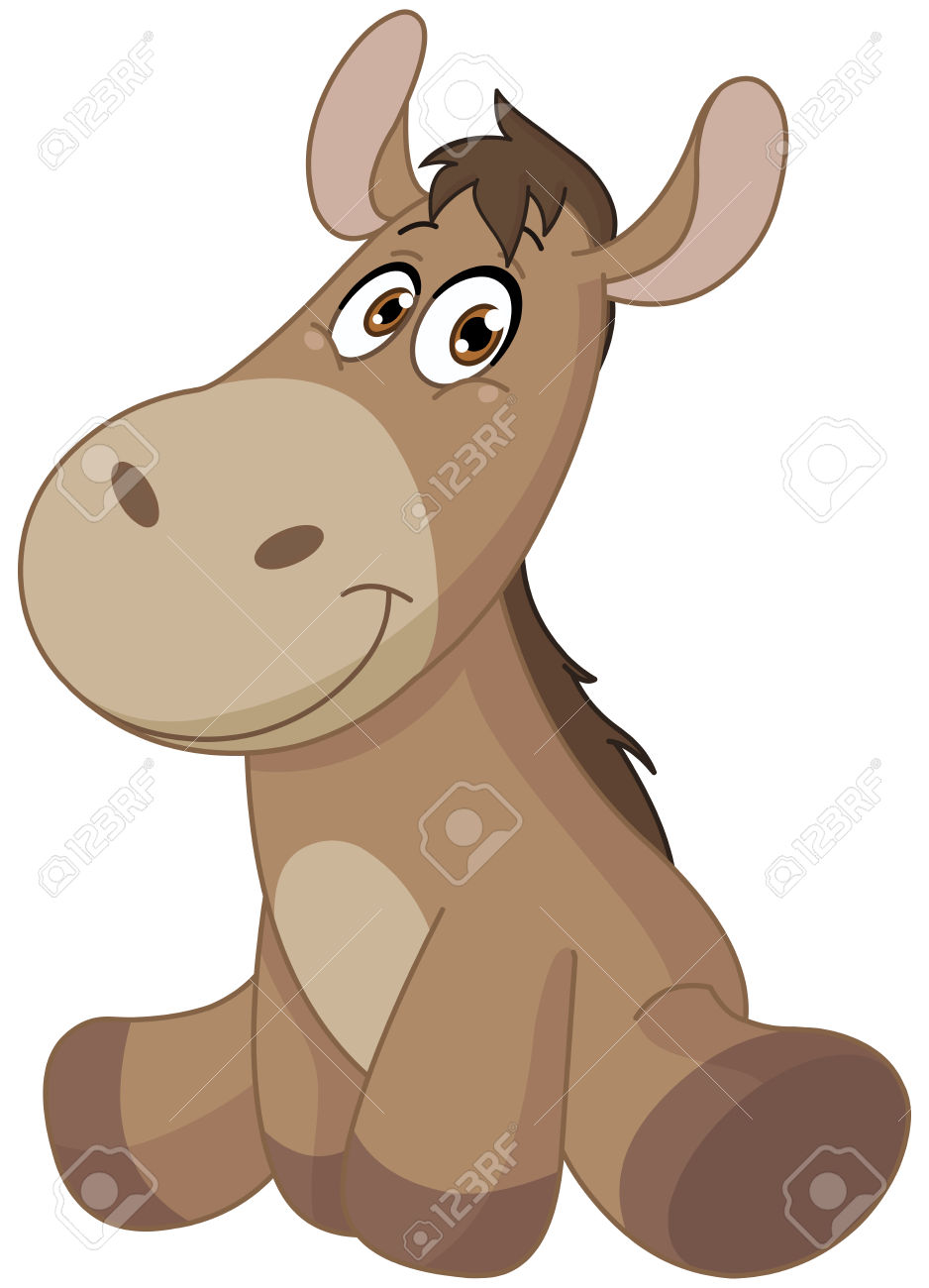 Donkey foal clipart - Clipground