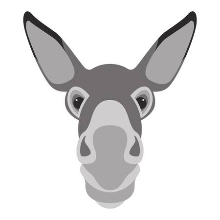 929 Donkey Head Stock Vector Illustration And Royalty Free Donkey.