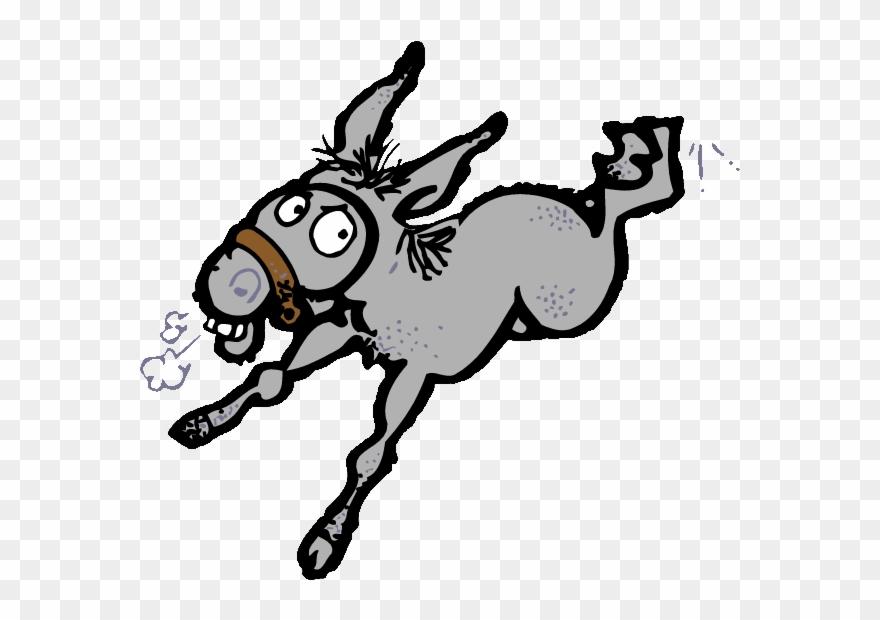 Mule Clipart Donkey Kick.