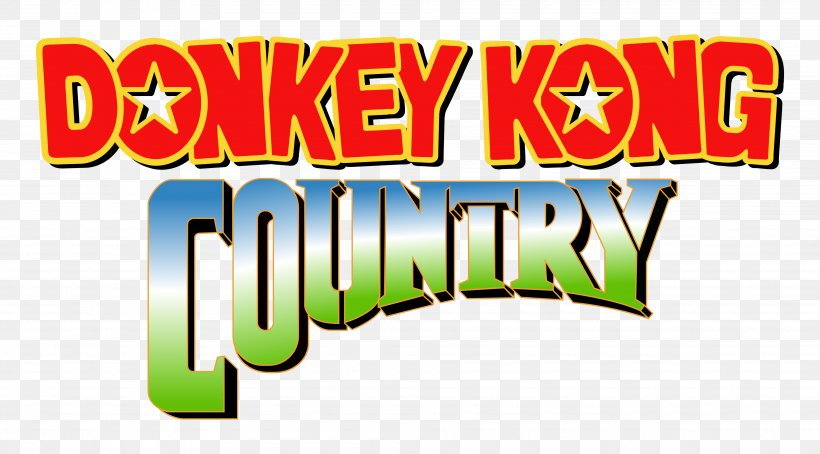 Donkey Kong Country Logo Video Games Brand Font, PNG.