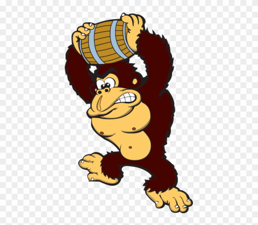 Transparent Stock Gorilla Mascot.