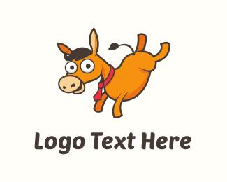 Donkey Cartoon Logo.