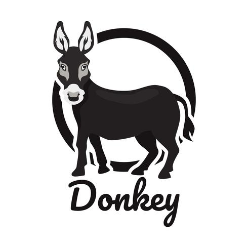 donkey logo isolated on white background.