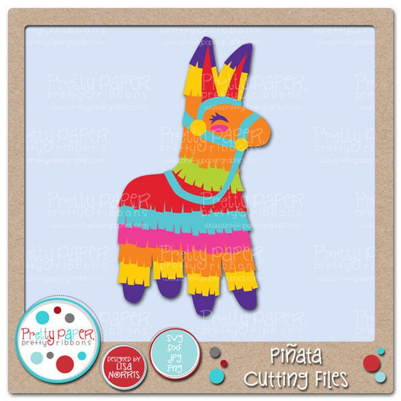 Pinata Cutting Files & Clip Art.