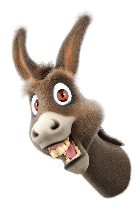 Download Donkey Cartoon Face #47514.