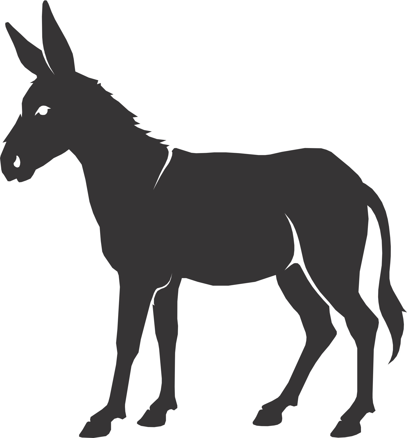 Free Donkey Silhouette Cliparts, Download Free Clip Art.