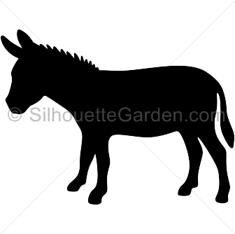 Donkey Silhouette.