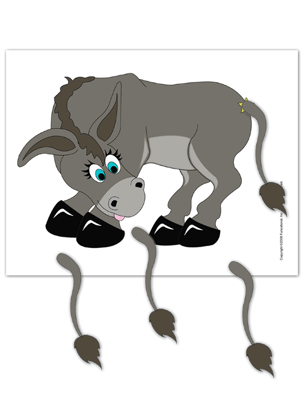 Pin The Tail On The Donkey clipart.
